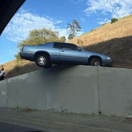 Car on wall