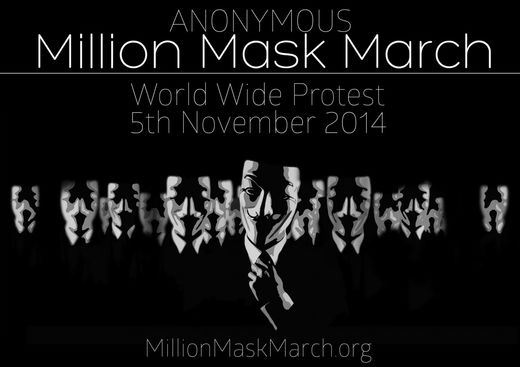 Anonymous million mask march 5. november
