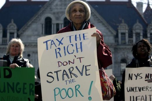 Hunger Armut USA, tax the rich don't starve the poor