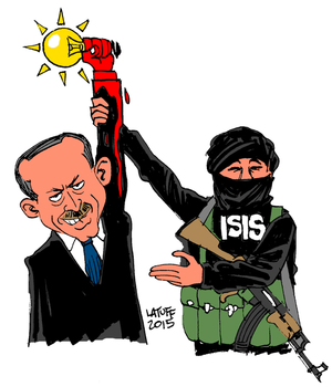 erdogan, latuff, isis