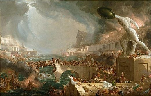 fall of Rome painting