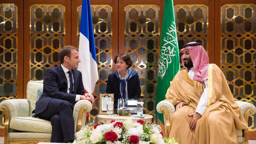 Macron und Mohammed bin Salman