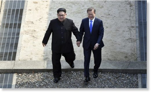 kim jong un moon jae in cross border