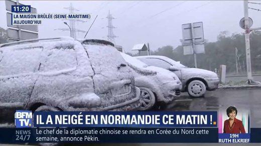 Normandie, neige