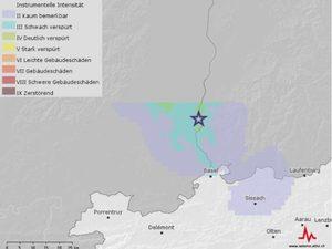 Das Erdbeben ereignete sich rund 20 Kilometer nördlich von Basel an der deutsch-französischen Grenze