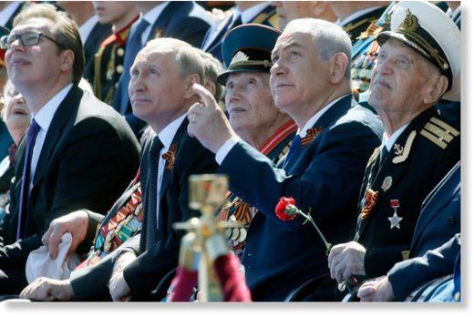 Putin netanyahu- victory day