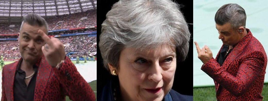 Aufregung in Politik und Presse: Robbie zeigt Anti-Putin Propaganda den Stinkefinger bei WM -- Sott.net