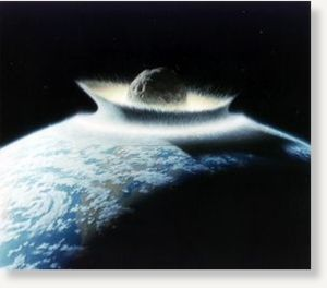 asteroid impact, meteor, earth
