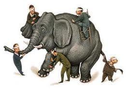 Elefant-blinde Männer