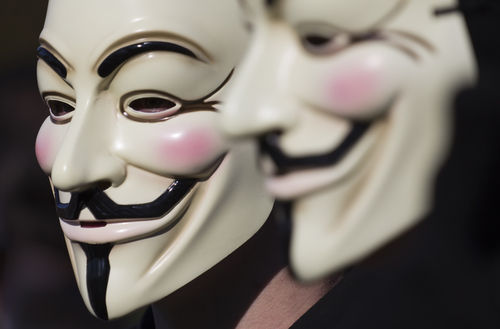 Guy Fawkes Maske, Anonymous