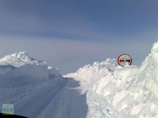 schnee, russland