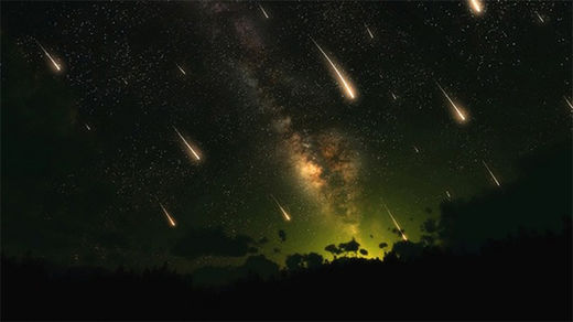 meteor shower lluvia meteoritos