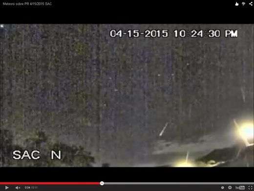 Puerto Rico Bolide Meteor 2224 Local 15APR2015