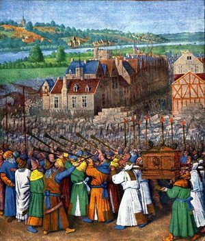 Figure 165: The taking of Jericho by Jean Fouquet (oil on canvas, c. 1450).