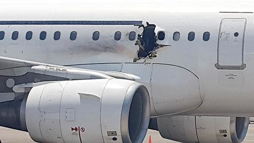 airplane explosion