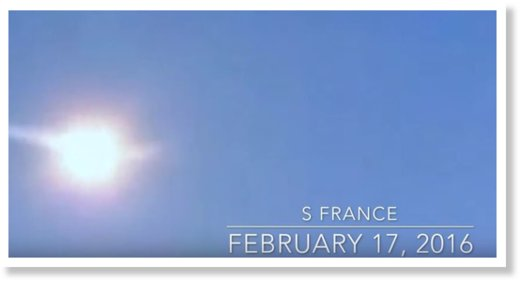 meteor fireball over southern France 17.02.2016