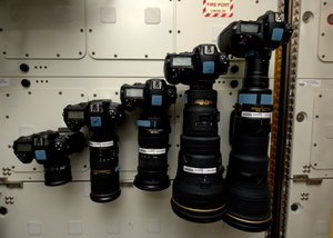 Photography gear on ISS