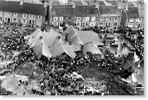 The aftermath of the disaster Aberfan
