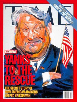 Time cover Yeltsin