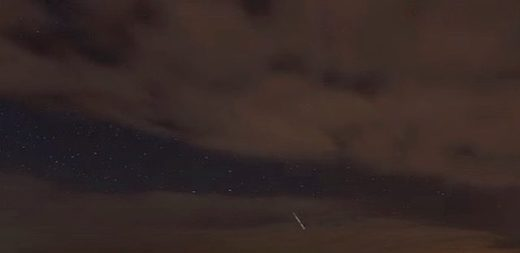 Fireball over Donegal, Ireland