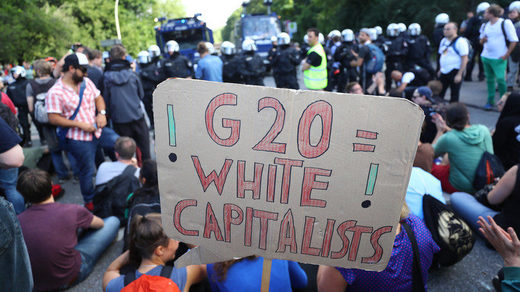 Demonstration G20 Gipfel