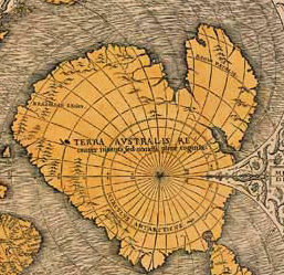 One of the Oronce Fine's maps showing an ice-free Antarctica