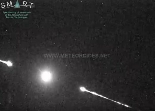 Meteor fireball over Morocco