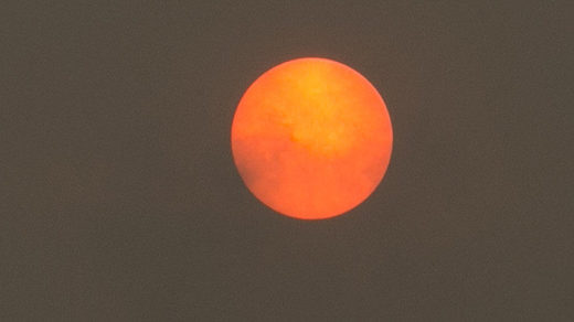 Sonne rot