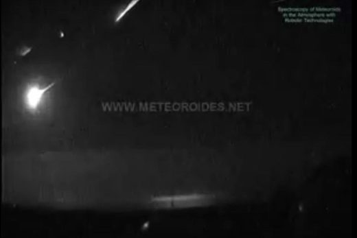 meteor fireball southern spain January 29 2018