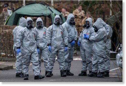 Britisches Militärpersonal untersucht die Vergiftung von Sergei Skripal am 11. März in Salisbury