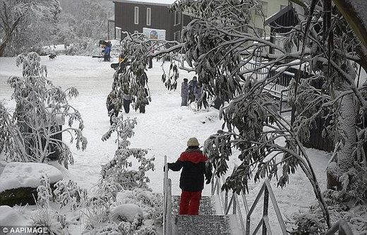 Australia's south east was swept with feverishly cold temperatures