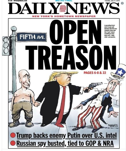 new york daily cartoon trump putin
