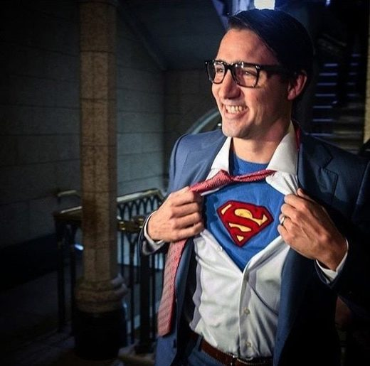 trudeau superman