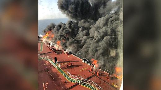 tanker fire oman