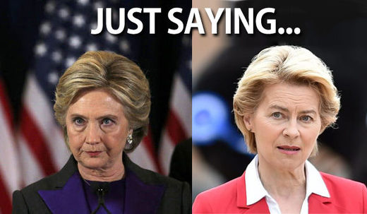 Clinton and von der Leyen evil Twins