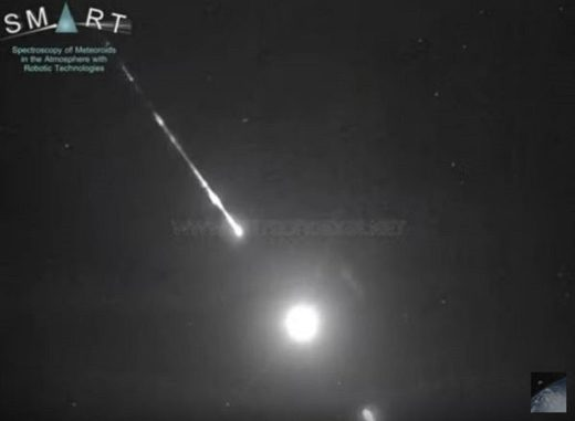 Fireball over Almeria, Spain