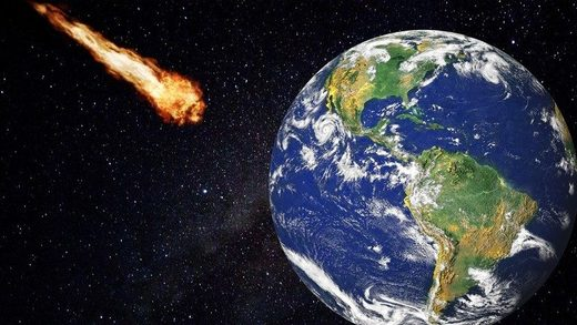 Earth fireball Erde Feuerball