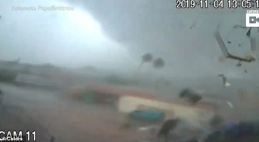 Tornado hits Greece factory