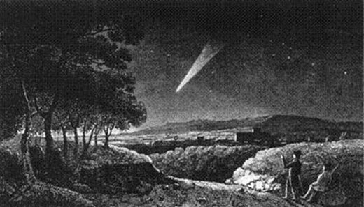 Depiction of the great Comet of 1811 also known as  Napoleon's Comet