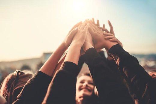 Glück, zufriedenheit, Netzwerken, Zusammenarbeit