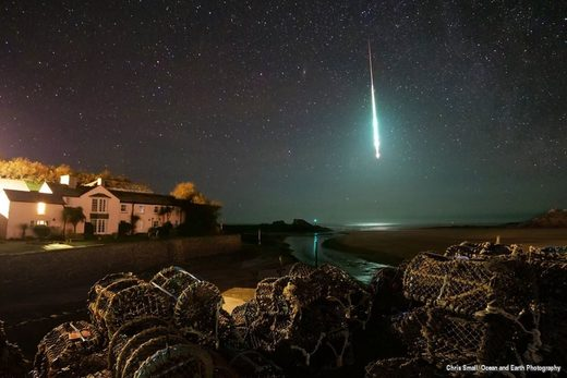 Huge fireball filmed over Bude, north Cornwall