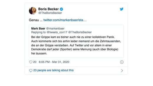 boris becker tweet