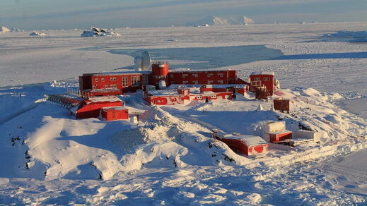 Chile's Bernardo O'Higgins army base is seen at Antarctica