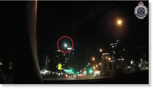 Queensland officers spotted the meteorite falling over Surfers Paradise in the Gold Coast.