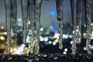 Icicles from Toronto ice storm