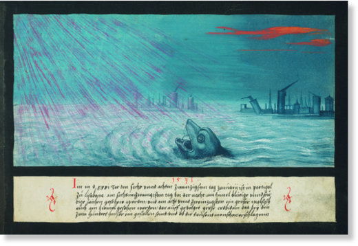 1531 – Whale and earthquake in Lisbon - Wal und Erdbeben in Lissabon